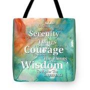 Serenity Prayer 1 - By Sharon Cummings Tote Bag