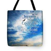 Serenity Prayer 3 - By Sharon Cummings Tote Bag