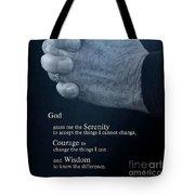 Serenity Prayer Finding Peace Tote Bag