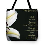 Serenity Prayer 3 Tote Bag