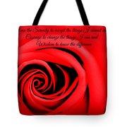 Serenity Rose Tote Bag