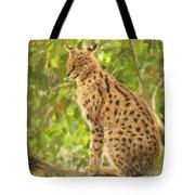 Serval Leptailurus Serval Tote Bag