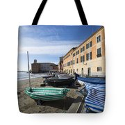 Sestri Levante And Boats Tote Bag
