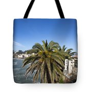 Sestri Levante And Palm Tree Tote Bag