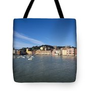 Sestri Levante With Blue Sky Tote Bag
