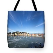 Sestri Levante With Clouds Tote Bag