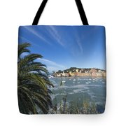 Sestri Levante With Palm Tree Tote Bag