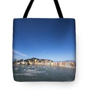 Sestri Levante With The Sea And Blue Sky Tote Bag