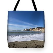 Sestri Levante With Waves Tote Bag