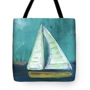 Set Free- Sailboat Painting Tote Bag