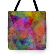 Set Sails On The Open Sea Abstract Tote Bag
