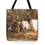 Settin Up Camp Tote Bag
