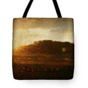 Setting Sun Abstract Tote Bag