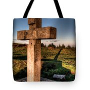 Setting Sun On A Cross By The Trenches Tote Bag