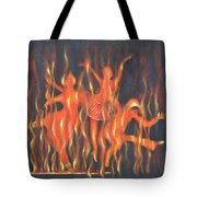 Setting The Stage On Fire Tote Bag