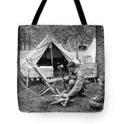 Setting Up Camp Tote Bag