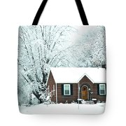 Settled In For The Winter Tote Bag
