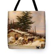 Settler's Log House Tote Bag
