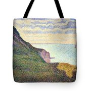 Seurat's Seascape At Port Bessin In Normandy Tote Bag