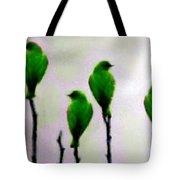 Seven Birds Of Green Tote Bag