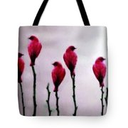 Seven Birds Of Red Tote Bag