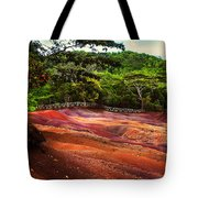 Seven Colored Earth In Chamarel 3. Mauritius Tote Bag
