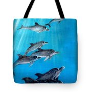 Seven Dolphins Tote Bag