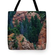 Seven Falls Mountain's Colorado Tote Bag by Robert D  Brozek