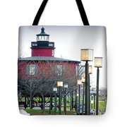 Seven Foot Knoll Lighthouse Tote Bag