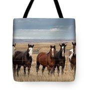 Seven Horses On The Range Pan Tote Bag