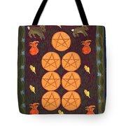 Seven Of Pentacles Tote Bag