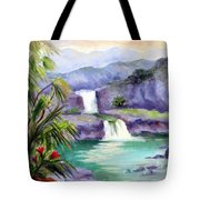 Seven Sacred Pools Tote Bag