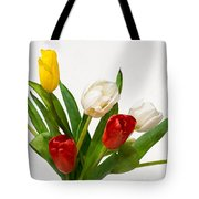Seven Tulips - Four Colors Tote Bag