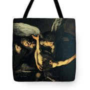 Seven Works Of Mercy Tote Bag by Caravaggio