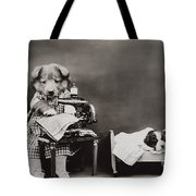 Sewing Baby Clothes Tote Bag by Aged Pixel