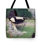 Sewing In The Sun, 1913 Tote Bag