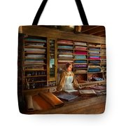 Sewing - Minding The Mending Store Tote Bag by Mike Savad