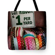 Sewing - Ribbon By The Yard Tote Bag by Mike Savad