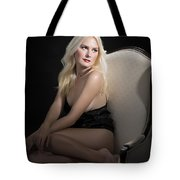 Sexy Fine Art Blond Girl In Chair 1285.02 Tote Bag