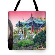 Sexy Freckle Faced Beauty Lucy Liu Altered Version II Tote Bag
