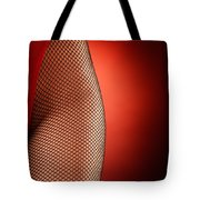 Sexy Woman Hips In Fishnet  Tote Bag