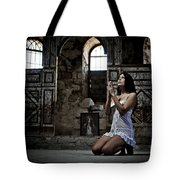 Sexy Woman In Church 2 Tote Bag