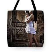 Sexy Woman In Church Tote Bag