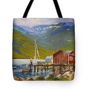 Seydisfjordur Wharf Tote Bag
