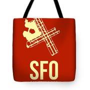 Sfo San Francisco Airport Poster 2 Tote Bag