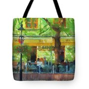 Shaded Cafe Tote Bag