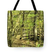 Shades Mountain Bridge In The Forest Tote Bag