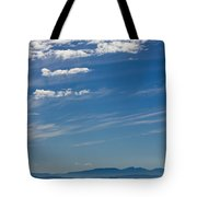 Blue Skies And Bluer Seas Tote Bag