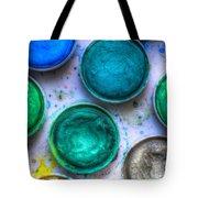 Shades Of Green Watercolor Tote Bag