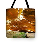 Shades Of Light Shadow And Texture On Cliff Wall Tote Bag
